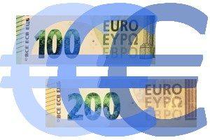 Banknoten 100- und 200-Euro-Scheine, ©HV Krefeld-Kempen-Viersen